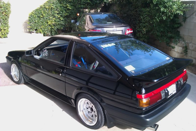 AE86 on SSR MKIII, Lip looks healthy on the rear.