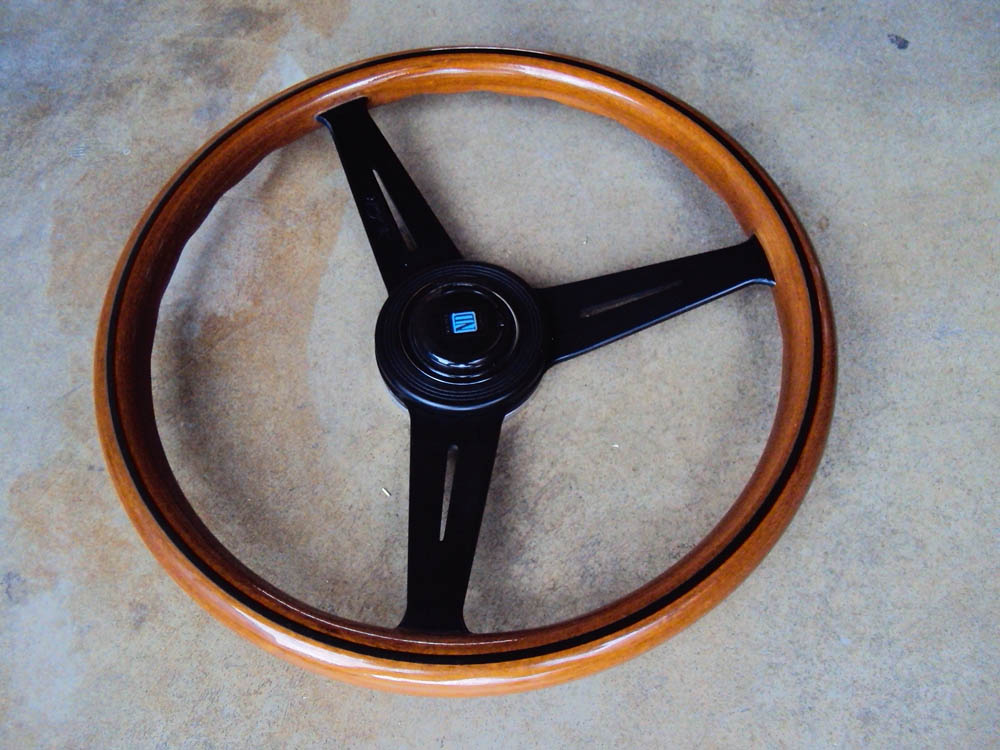 Nardi classic wood steering wheel black face 360mm for Mercedes benz steering wheel for sale
