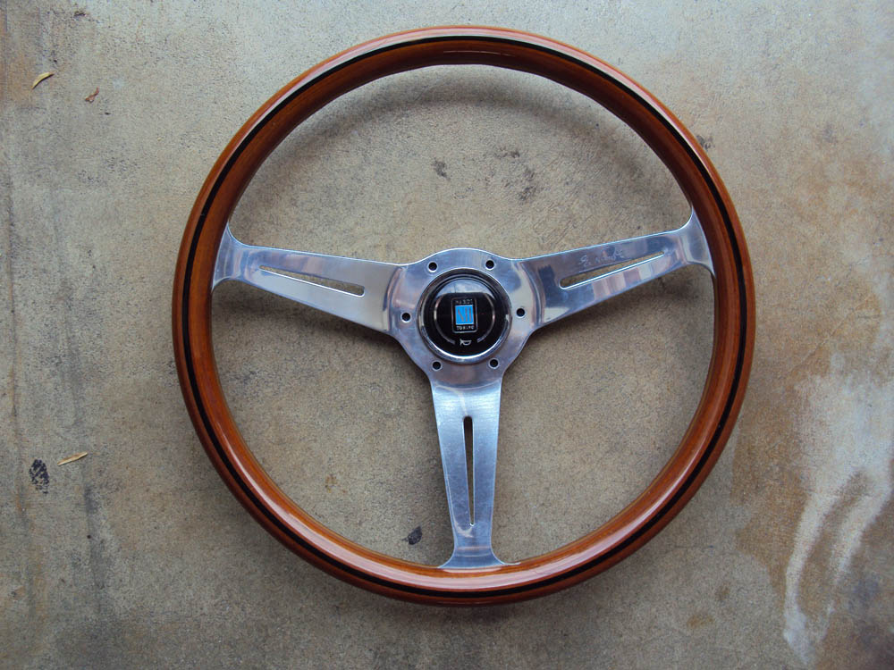 Nardi classic wood steering wheel polished face 360mm for Mercedes benz steering wheel for sale