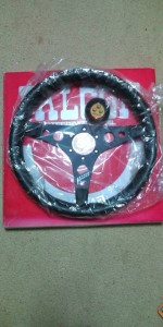 Watanabe Falcon Steering Wheel with box and plastic wrapper