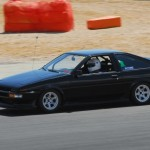 AE86 Toyota Corolla on White Volk Racing TE37 on the Track