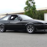 AE86 Toyota Corolla on Limited Titanium Volk Racing TE37