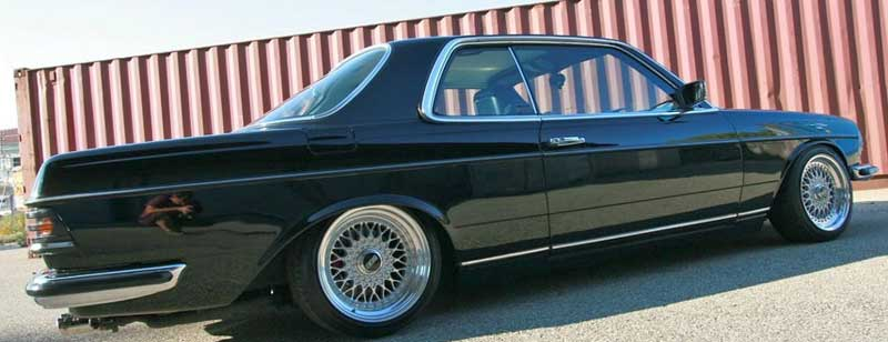 Mercedes Benz 280CE W123 on BBS RS