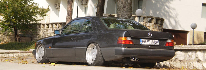 Nice Stance, tucks front and rear. - Mercedes Benz W124 Coupe on AMG Aero I 3 Piece Wheels