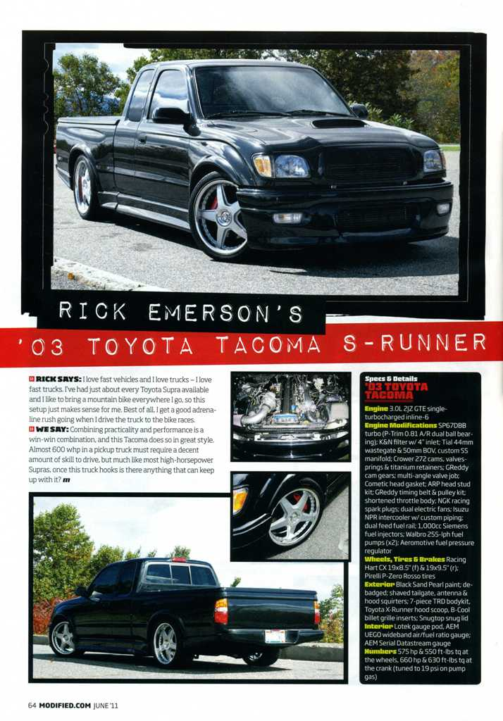 2JZ Toyota Tacoma on Racing Hart CX in Modified Magazine
