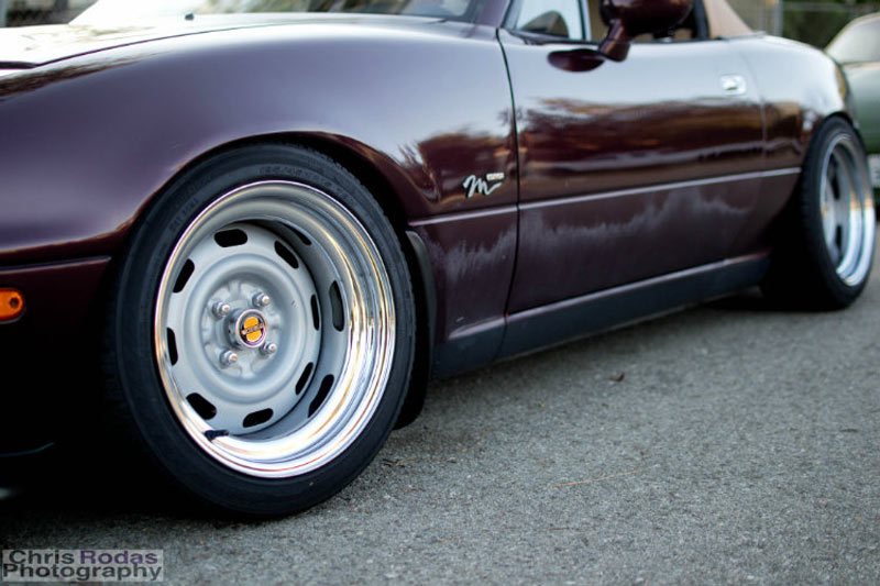 Mazda Miata on Widened Steelies