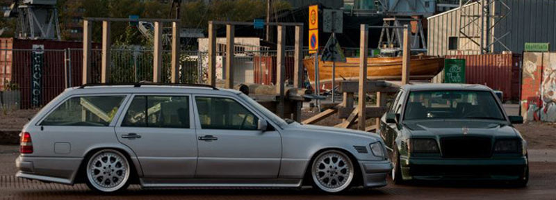 Mercedes Benz W124 Estate on Brabus Monoblock III