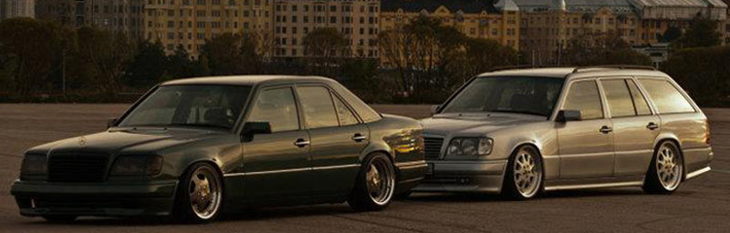 Mercedes Benz 124 Estate on Brabus Monoblock III