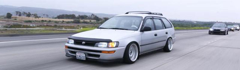 Precedeo Demon Camber on AE102 Toyota Corolla Wagon