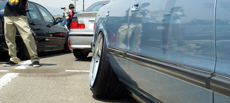 Rear Camber Toyota Cressida MX83 on Rotiform Wheels