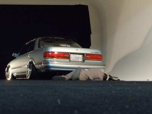 ... the rear Cali Plate – Toyota Cressida MX83 on Rotiform IND Wheels