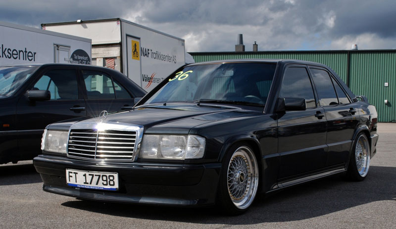Mercedes Benz 190e 2.5 16v W201 on Converted BBS RS
