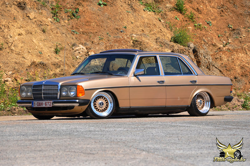 Mercedes Benz W123 200D on BBS RS