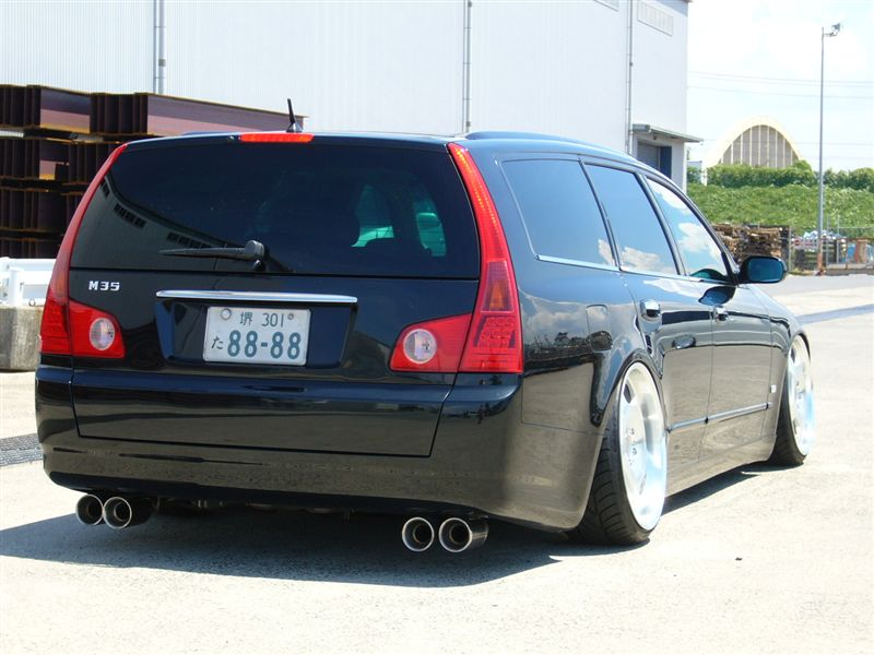 "JDM Nissan Stagea on 20"" Wald Duchatelet"