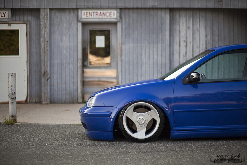 Volkswagen Golf on Dodge Viper Wheels