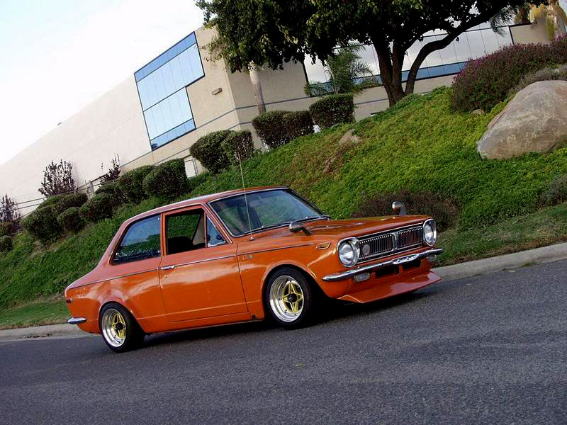 Enkei AP Racing on Old School 1969 KE10 Toyota Corolla
