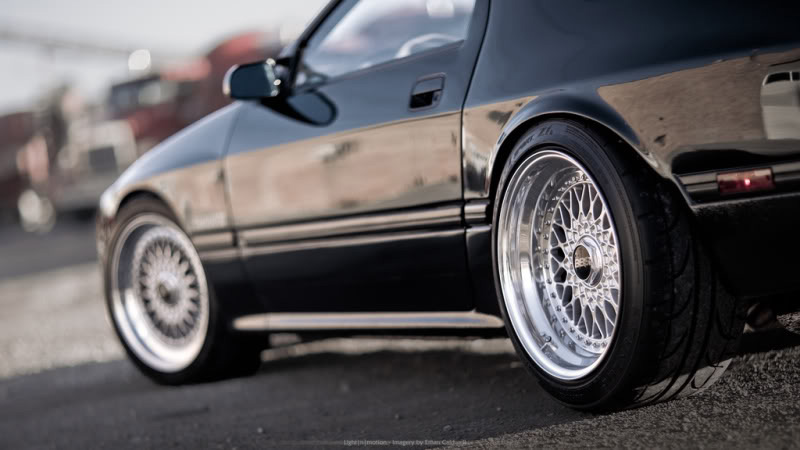 "Mazda RX7 Turbo II FC on 10.5"" BBS RS"