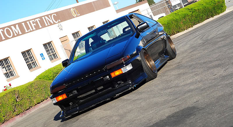 Volk Racing TE37V on AE86 Toyota Corolla GT-S