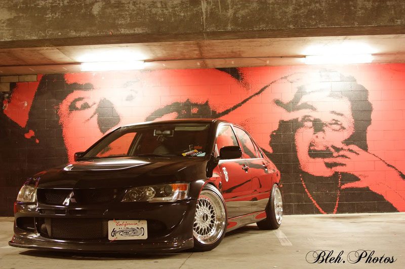 BBS RS 17x10 on Mitsubishi Lancer Evolution VIII