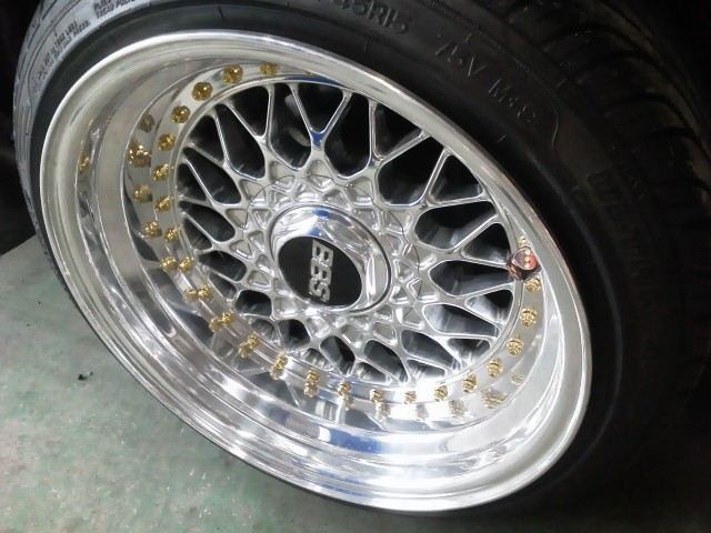 15x9.5 BBS RS on JDM AE86 Toyota Corolla