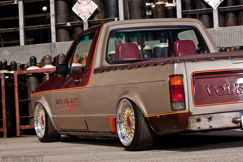 BBS RS on Bagged Volkswagen Caddy