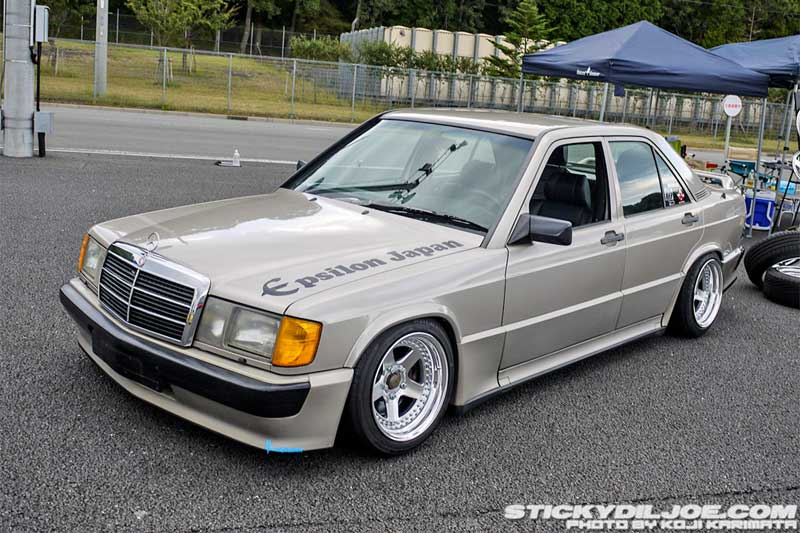 Mercedes Benz 190E W201 on Epsilon Japan Wheels