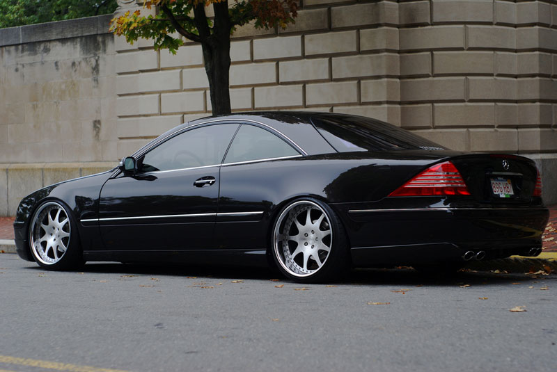 mercedes benz cl500 w215 slammed on d2forged vs7 wheels. Black Bedroom Furniture Sets. Home Design Ideas
