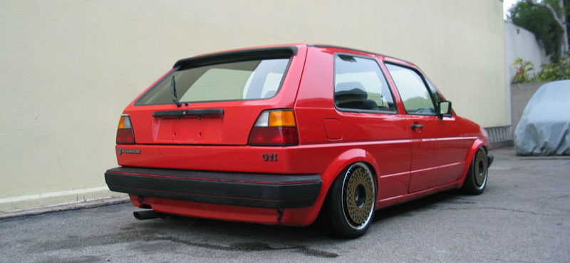 BBS RS Turbofans on MK2 Volkswagen Golf