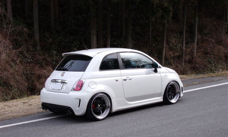 work meister s1 3 piece wheels on fiat 500 abarth. Black Bedroom Furniture Sets. Home Design Ideas