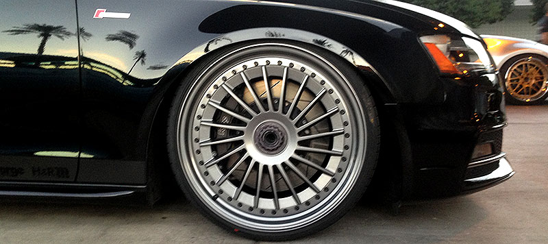 Rotiform IND-T Centerlock Wheels on Audi S4 at SEMA 2013