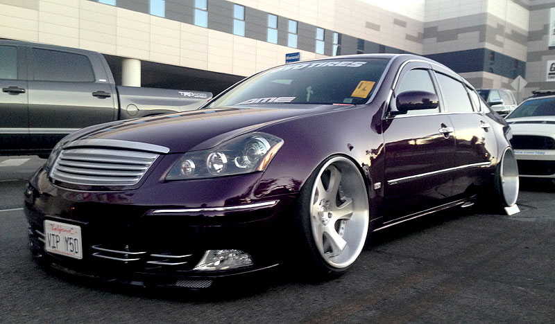 AME Shallen WX on VIP Infiniti M50 at SEMA 2013