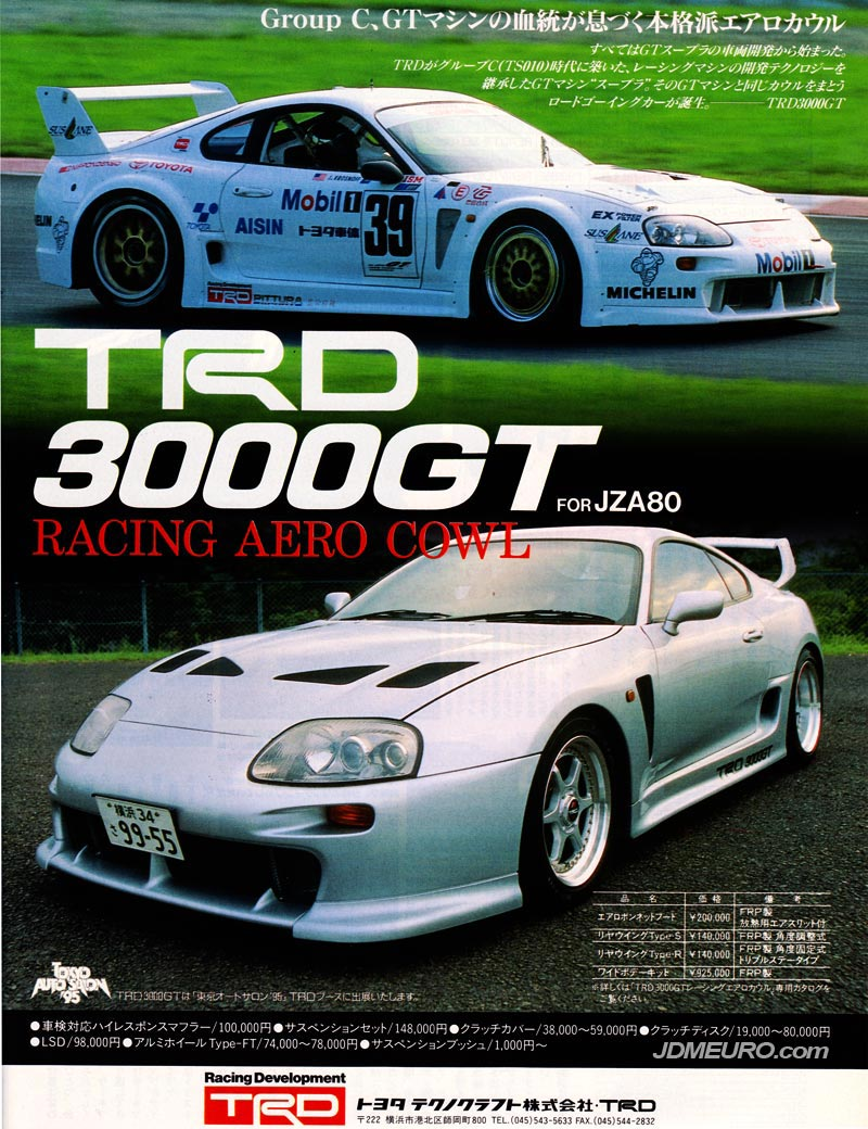 TRD Type FT Wheels and TRD 3000GT Racing Aero Cowl Toyota Supra