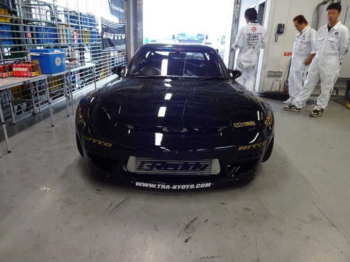 Rocket Bunny tra_kyoto Mazda RX7 FD3s on Enkei 6666 Wheels