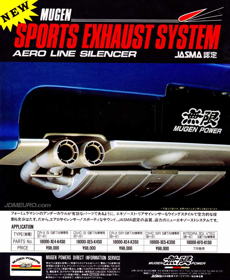 Mugen Sports Exhaust System Aero Line Silencer