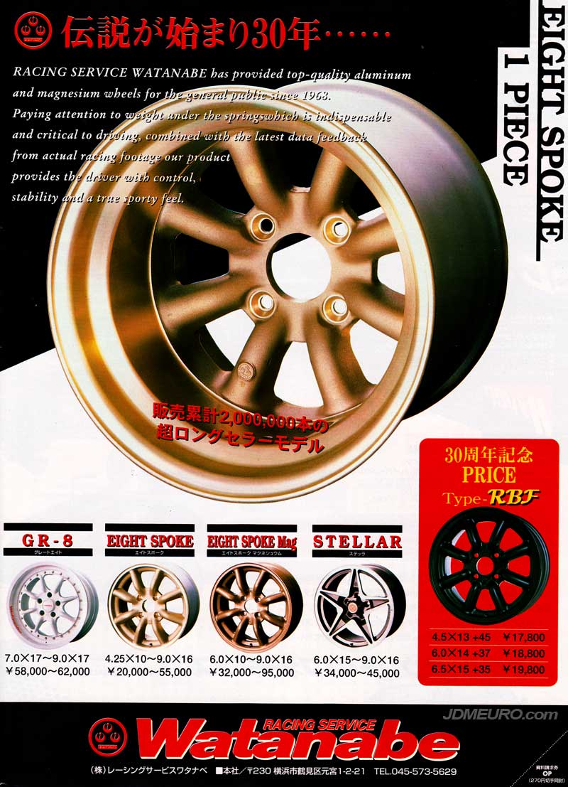 Watanabe Wheels Line-Up - JDM Wheels