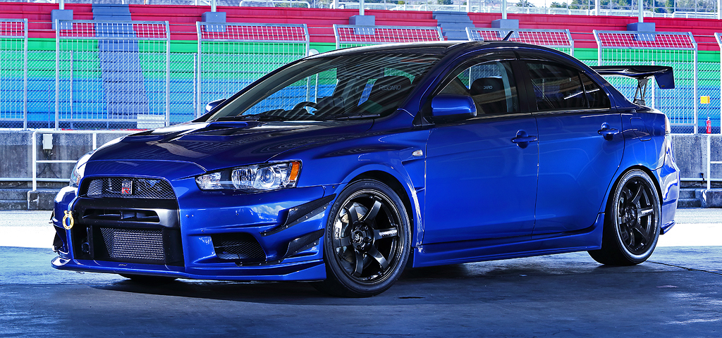 Volk Racing TE37 Saga on Mitsubishi Lancer EVO IX
