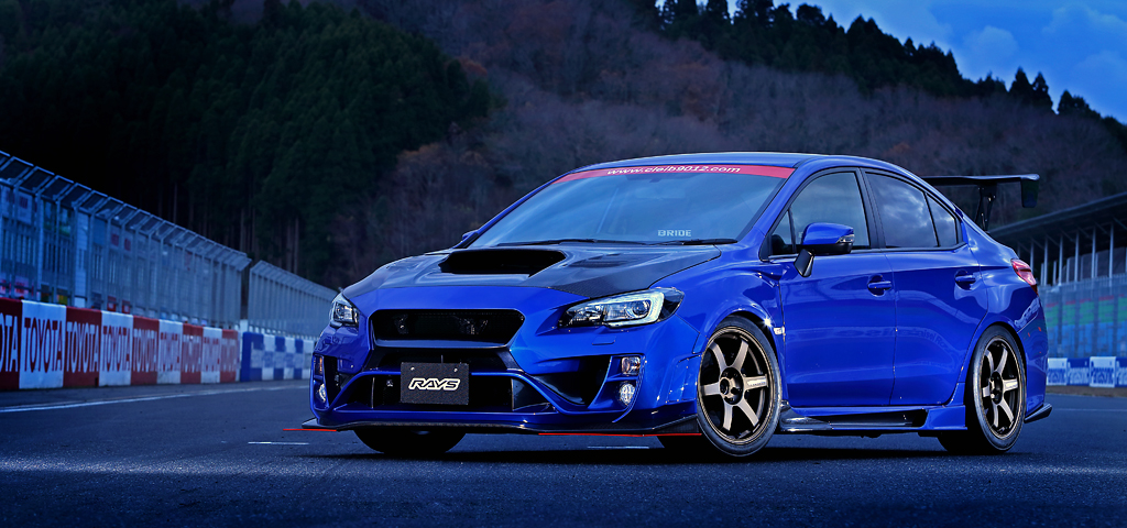 Volk Racing TE37 Saga on Subaru Impreza WRX STI