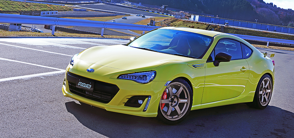 Volk Racing TE37 Saga on Toyota GT 86