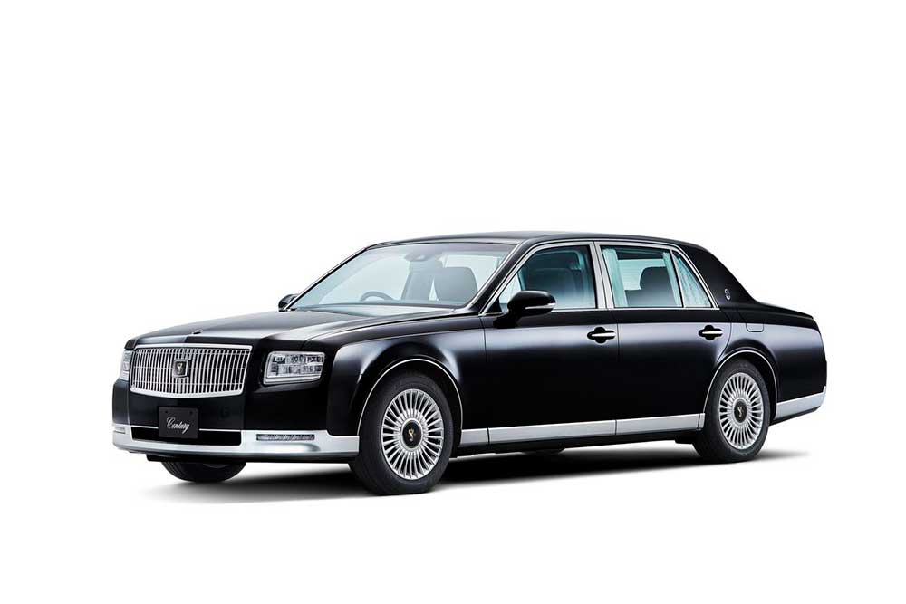 "The Toyota Century is the ultimate Luxury-Mobile to come out of Japan, and all of asia for that. The Toyota Century is the car you get chauffeured in if you are a dignitary, diplomat or even the president. The Century made its debut in 1967 and didn't get a redesign until 1997; now in 2018 we get its latest redition. The most noteable change, and a very popular automotive trend lately is the ""downgrade"" in powertrain. For 40 years the Toyota Century has had the prestigious power of a v12 engine, and now less cylinders are favored as a 5.0-liter V-8 Hybrid from the Lexus LS600hL is now in. - 2018 Toyota Century HYBRID The Ultimate in JDM Luxury"