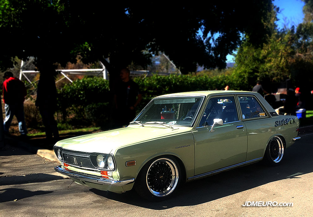 Simmons V4 on Old School Datsun 510 - Australian Wheels