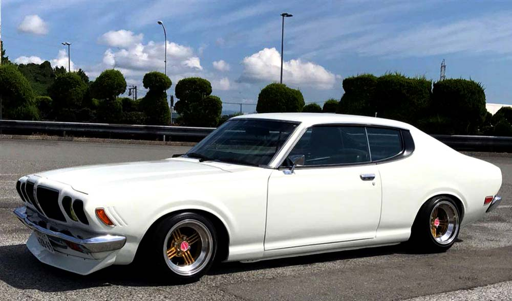 Devil Shadow Spoke on Datsun Bluebird 610 Coupe JDM Wheels