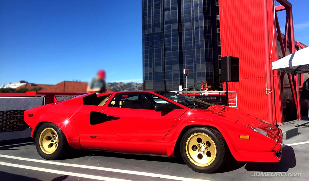 Lamborghini Countach at Radwood 2018 at Petersen Automotive Museum in Los Angeles, California.